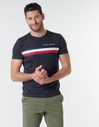 Oblačila Moški Majice s kratkimi rokavi Tommy Hilfiger GLOBAL STRIPE TEE Modra