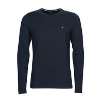 Oblačila Moški Majice z dolgimi rokavi Tommy Hilfiger STRETCH SLIM FIT LONG SLEEVE TEE Črna