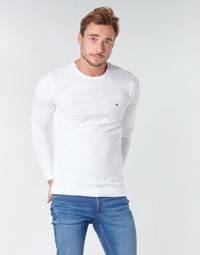 Oblačila Moški Majice z dolgimi rokavi Tommy Hilfiger STRETCH SLIM FIT LONG SLEEVE TEE Bela