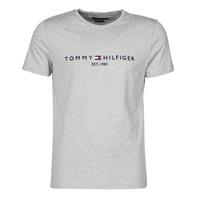 Oblačila Moški Majice s kratkimi rokavi Tommy Hilfiger TOMMY LOGO TEE Siva