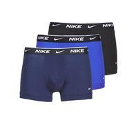 Spodnje perilo Moški Boksarice Nike EVERYDAY COTTON STRETCH Črna / Modra