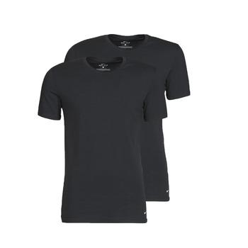 Oblačila Moški Majice s kratkimi rokavi Nike EVERYDAY COTTON STRETCH Črna