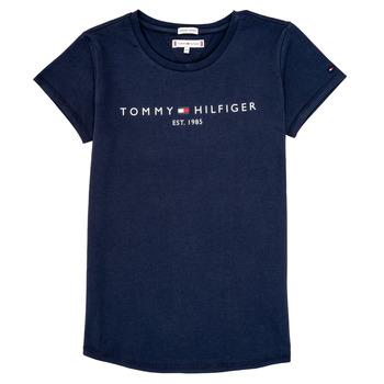 Oblačila Deklice Majice s kratkimi rokavi Tommy Hilfiger KG0KG05242-C87 Modra