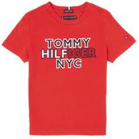Oblačila Dečki Majice s kratkimi rokavi Tommy Hilfiger KB0KB05848-XNL Rdeča