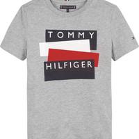 Oblačila Dečki Majice s kratkimi rokavi Tommy Hilfiger KB0KB05849-P6U Siva