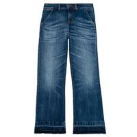 Oblačila Deklice Jeans straight Tommy Hilfiger KG0KG05199-1BJ Modra