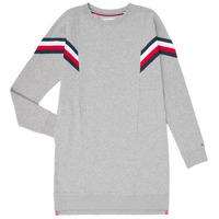 Oblačila Deklice Kratke obleke Tommy Hilfiger KG0KG05283-P6U Siva