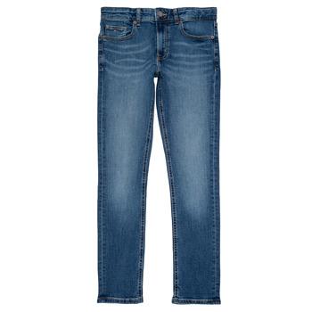 Oblačila Dečki Kavbojke slim Tommy Hilfiger SCANTON SLIM Modra