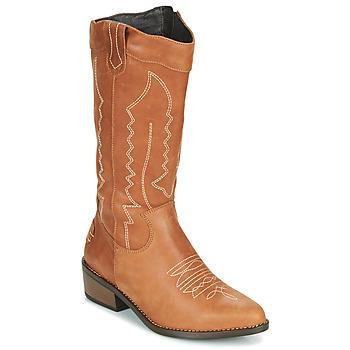 Čevlji  Ženske Mestni škornji    Musse & Cloud TEDINA Cognac