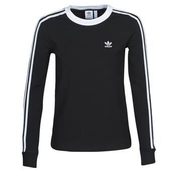 Oblačila Ženske Majice z dolgimi rokavi adidas Originals 3 STR LS Črna