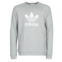 Oblačila Moški Puloverji adidas Originals TREFOIL CREW Bruyère / Siva