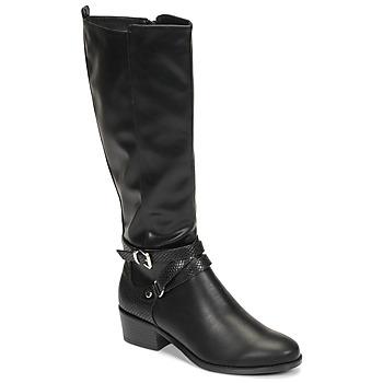 Čevlji  Ženske Mestni škornji    Moony Mood NELLE Črna