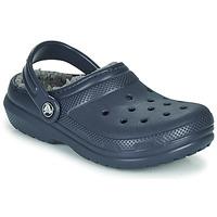 Čevlji  Otroci Cokli Crocs CLASSIC LINED CLOG K Modrá