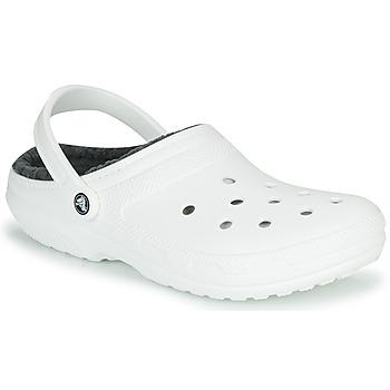 Čevlji  Cokli Crocs CLASSIC LINED CLOG Bela