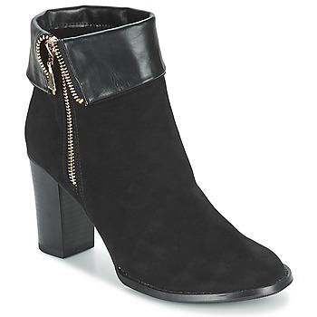 Čevlji  Ženske Gležnjarji Moony Mood FRISETTE Črna