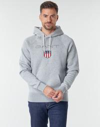 Oblačila Moški Puloverji Gant GANT SHIEL HOODIE Siva