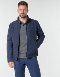 Oblačila Moški Jakne Gant QUILTED WINDCHEATER Modra