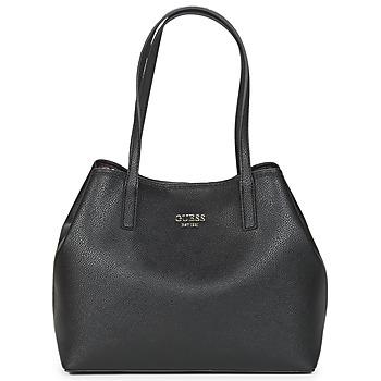 Torbice Ženske Nakupovalne torbe Guess VIKKY TOTE Črna