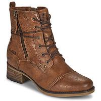 Čevlji  Ženske Polškornji Mustang 1229508 Cognac