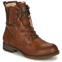 Čevlji  Ženske Polškornji Mustang 1139630 Cognac