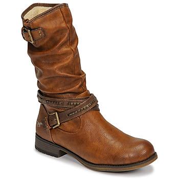 Čevlji  Ženske Mestni škornji    Mustang 1139624 Cognac