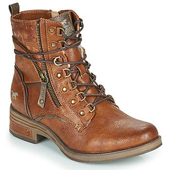 Čevlji  Ženske Polškornji Mustang 1293601 Cognac