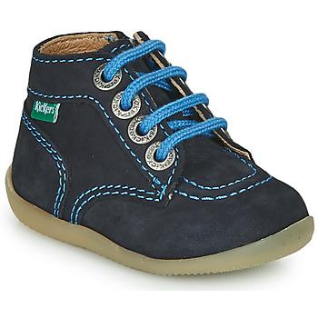 Čevlji  Dečki Polškornji Kickers BONZIP-2 Modra