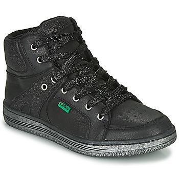 Čevlji  Deklice Visoke superge Kickers LOWELL Črna