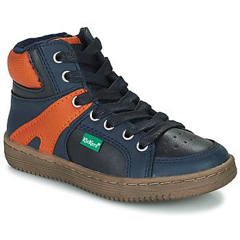 Čevlji  Dečki Visoke superge Kickers LOWELL Oranžna