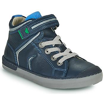 Čevlji  Dečki Visoke superge Kickers IRELAS Modra