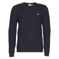 Oblačila Moški Puloverji Timberland LAMBWOOL CABLE Modra