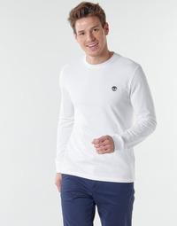 Oblačila Moški Majice z dolgimi rokavi Timberland LS Dunstan River Tee Bela