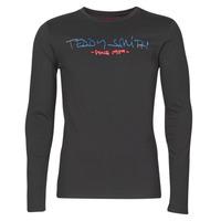 Oblačila Moški Majice z dolgimi rokavi Teddy Smith TICLASS BASIC M Črna