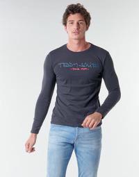 Oblačila Moški Majice z dolgimi rokavi Teddy Smith TICLASS BASIC M Modra