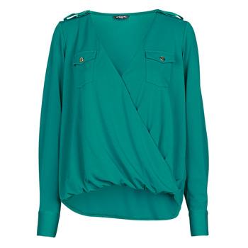 Oblačila Ženske Topi & Bluze Marciano SALLY CREPE TOP Zelena