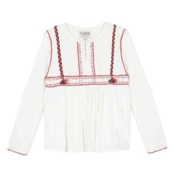 Oblačila Deklice Topi & Bluze Chipie 8R12014-19 Bela
