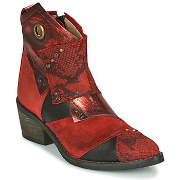Čevlji  Ženske Gležnjarji Casta DEMA Rdeča