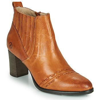 Čevlji  Ženske Gležnjarji Casta SANTA Cognac
