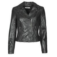 Oblačila Ženske Usnjene jakne & Sintetične jakne Naf Naf CAMILLA Črna