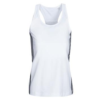 Oblačila Ženske Majice brez rokavov adidas Performance W D2M 3S TANK Bela