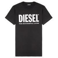Oblačila Otroci Majice s kratkimi rokavi Diesel TJUSTLOGO Črna