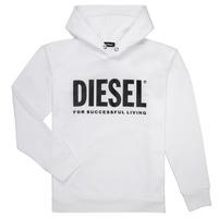 Oblačila Dečki Puloverji Diesel SDIVISION LOGO Bela