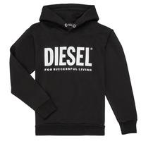 Oblačila Dečki Puloverji Diesel SDIVISION LOGO Črna