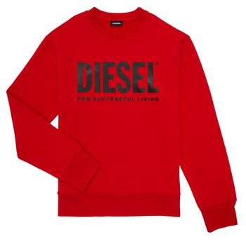 Oblačila Dečki Puloverji Diesel SCREWDIVISION LOGO Rdeča