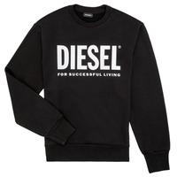 Oblačila Dečki Puloverji Diesel SCREWDIVISION LOGO Črna
