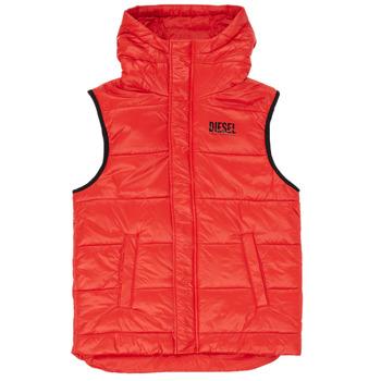 Oblačila Dečki Puhovke Diesel JSUNNY Rdeča