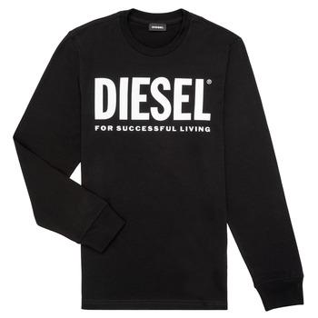 Oblačila Dečki Majice z dolgimi rokavi Diesel TJUSTLOGO ML Črna