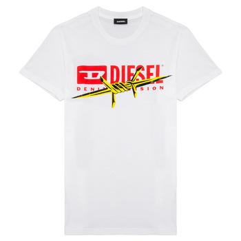 Oblačila Dečki Majice s kratkimi rokavi Diesel TDIEGOBX2 Bela