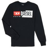 Oblačila Otroci Majice z dolgimi rokavi Diesel TDIEGOCUTY Črna