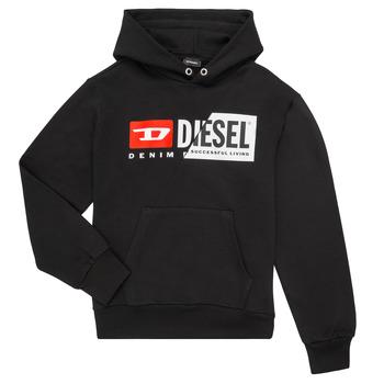 Oblačila Otroci Puloverji Diesel SGIRKHOODCUTY Črna